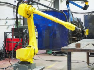 FANUC ARC Mate Robot Worx Machine in Repair Shop