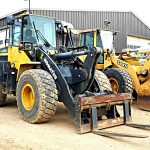 Komatsu Case and Caterpillar equipment on site